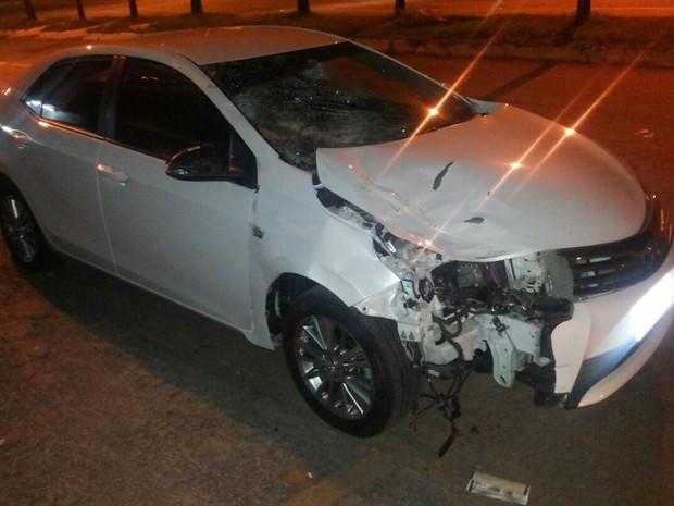 Condutor de Toyota Corolla foi preso após matar pedestre atropelada e fugir, diz polícia, em Goiás (Foto: Divulgação/PM)