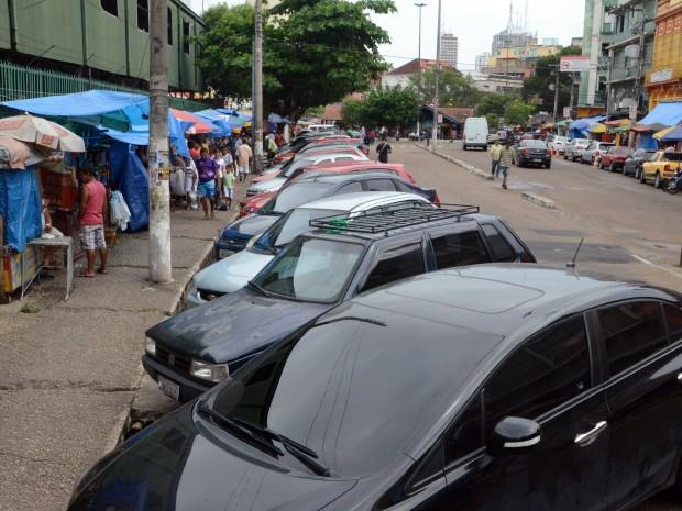 Rua Marquês de Santa Cruz, no Centro de Manaus (Foto: Robervaldo Rocha/CMM)