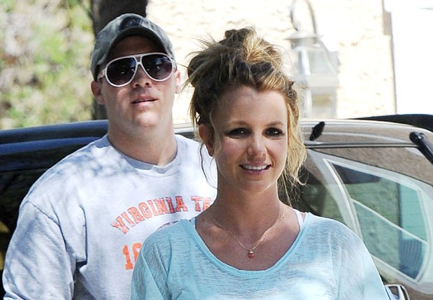 Britney Spears e David Lucado (Foto: Splash News)