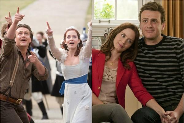 Em 'As Viagens de Gulliver'(2010) Jason Segel interpreta um plebeu apaixonado por uma princesa, papel de Emily Blunt. O casal funcionou tão bem que dois anos depois eles se juntaram novamente em 'Cinco Anos de Noivado' (2012) (Foto: Divulgação)