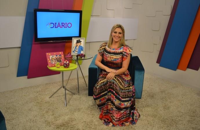 Jessica Leão no estúdio do Mais Diário  (Foto: Reprodução / TV Diário)