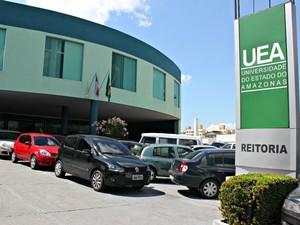 Reitoria da UEA Manaus (Foto: Adneison Severiano G1/AM)