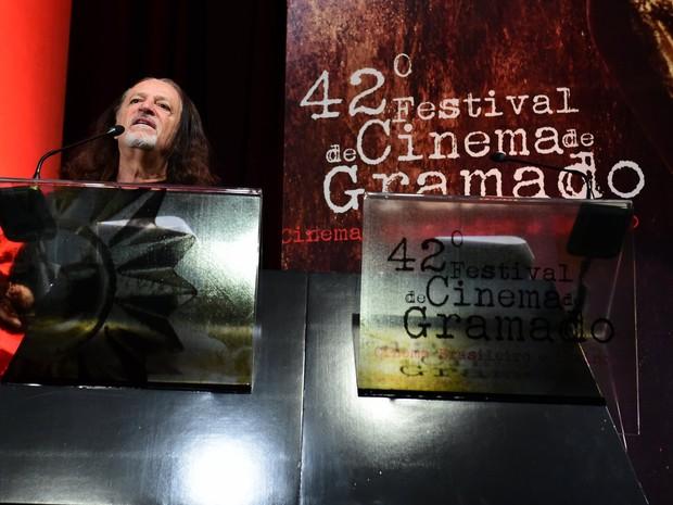Alceu Valença no Festival de Cinema de Gramado (Foto: Alex Palarea/ Ag. News)
