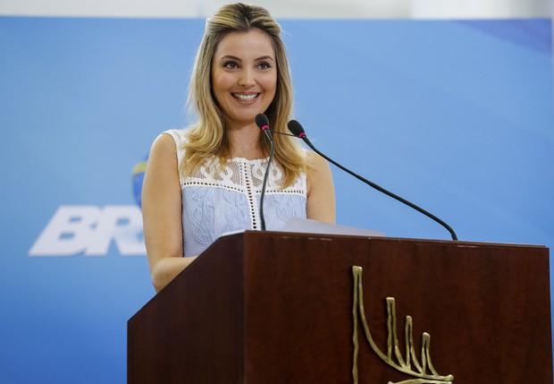 Marcela Temer usou vestido de R$1,6 mil em evento social, em Brasília (Foto: Agência Brasil)