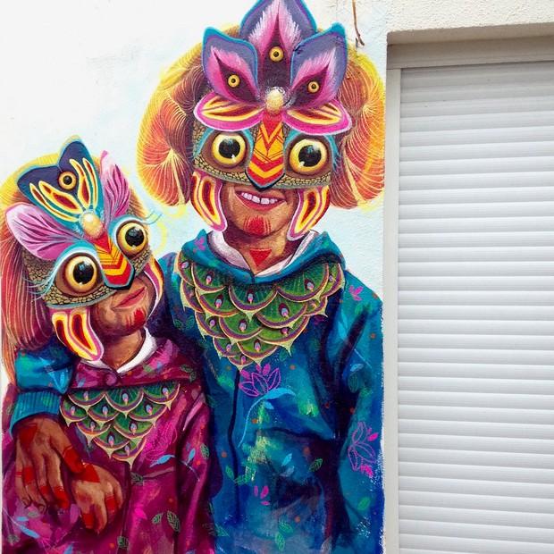 Obra da artista Gleo que integrará o Nu Festival, em outubro, no bairro de Pinheiros, em SP (Foto: Divulgação)