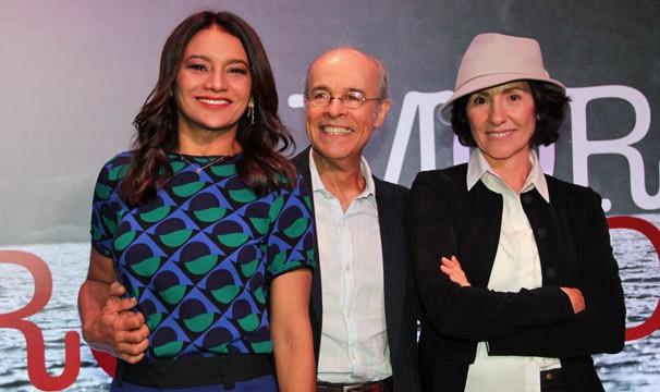 Dira Paes, Osmar Prado e Cássia Kiss Magro no lançamento de Amores Roubados (Foto: Nathalia Fernandes/Globo)