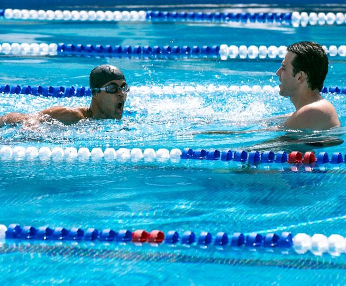 Ivan manda muito bem durante o treino (Foto: Isabella Pinheiro/Gshow)