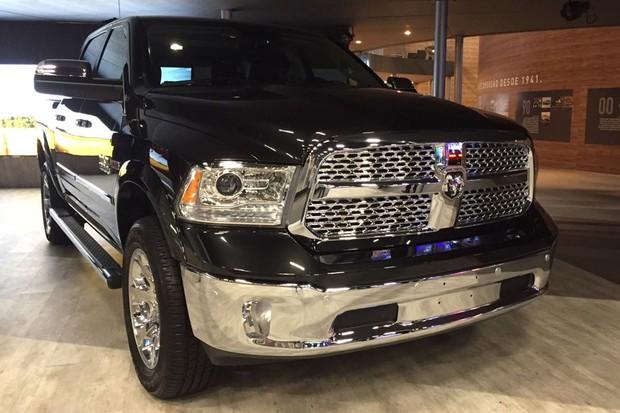 RAM 1500 no Salão do Automóvel 2016 (Foto:  Michelle Ferreira/Autoesporte)