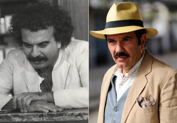 Nacib: Armando Bógus (1975) e Humberto Martins (2012) (Foto: Arquivo e TV Globo)