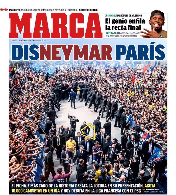 capa marca, neymar no psg