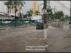 Temporal tem ventos de 85 km/h e alaga ruas em Campinas, SP