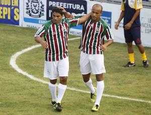 Bruno Reis Alex Dias Fluminense Casimiro de Abreu Carioca de showbol (Foto: Gilvan de Souza/Divulgação)