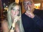 Alexandre Frota e Denise Rocha jantam juntos em São Paulo