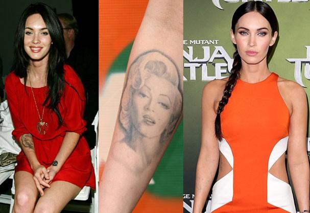 Megan Fox removeu a tatuagem de Marilyn Monroe em 2011 (Foto: Getty Images)