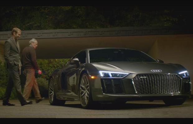 R8 V10 Plus no comercial da Audi para o Super Bowl (Foto: Reprodução)