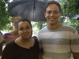 estudantes UFG Goiânia (Foto: Gabriela Lima/G1)