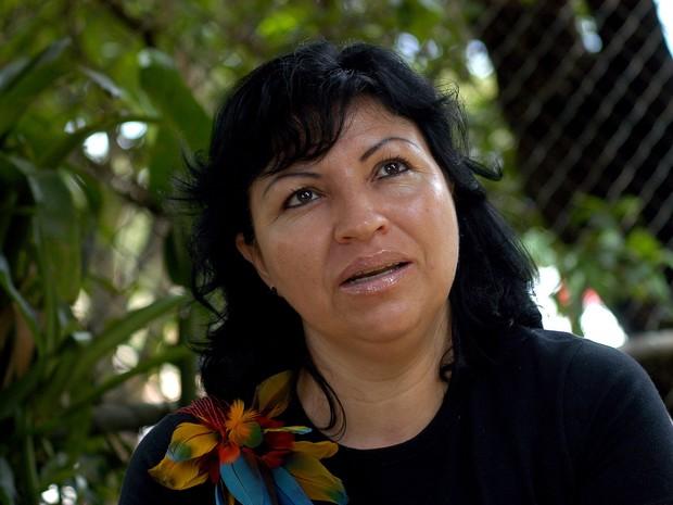 Azelene Kaingang é lider indígena e representante da Funai em Chapecó (Foto: Azelene Kaingang/ Arquivo Pessoal)