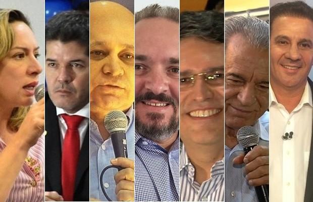 Sete candidatos concorrem à Prefeitura de Goiânia, Goiás (Foto: Montagem/G1)