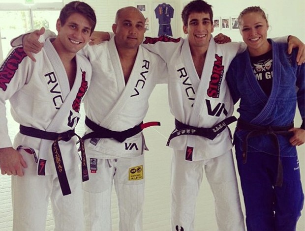 MMA - Rafael Mendes, BJ Penn, Guilherme Mendes e Ronda Rousey (Foto: Reprodução/Instagram)