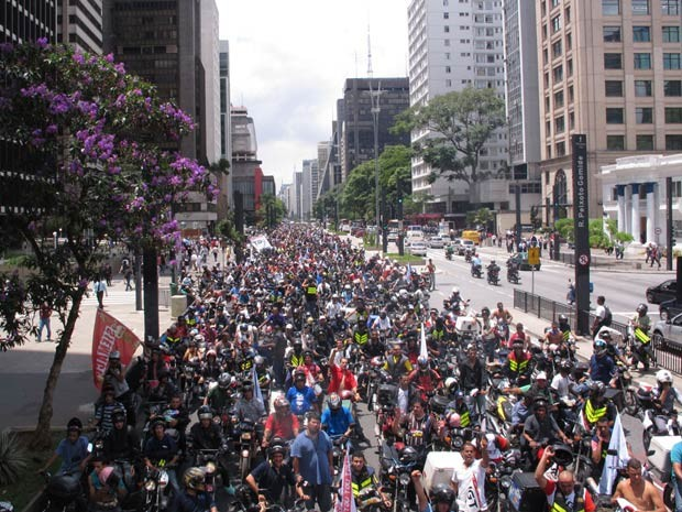 Protesto travou a Avenida Paulista (Foto: Fábio Tito/G1)
