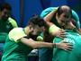 Brasileiros vencem favoritos e levam bronze no tênis de mesa