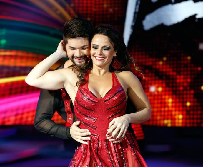 Viviane também mostrou talento na interpretação da coreografia (Foto: Ellen Soares/Gshow)