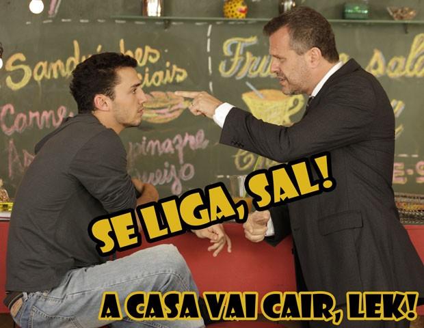 Doutor Olavo mandando um papo reto para o Sal. Será? (Foto: Malhação / TV Globo)