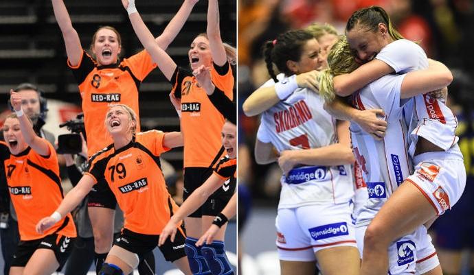 Holandesas e norueguesas duelam pelo título mundial na Dinamarca (Foto: Editoria de Arte)