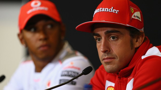 fernando alonso ferrari gp da Inglaterra coletiva (Foto: Ag&#234;ncia Getty Images)