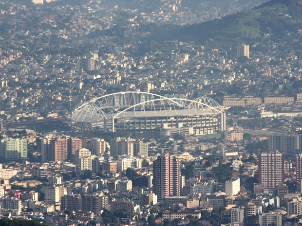 Partida entre Flamengo e Fluminense acontecerá no Estádio Olímpico João Havelange (Foto: Marcos Teixeira Estrella/TV Globo)