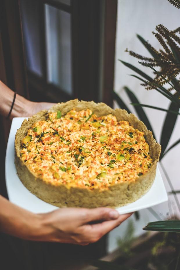 Quiche vegana de tofu, cogumelos e abobrinha  (Foto: Divulgação)