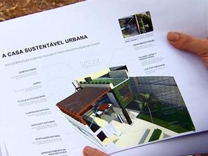 Professora sonha em construir casa sustentável em São Carlos (Foto: Reginaldo Santos/EPTV)