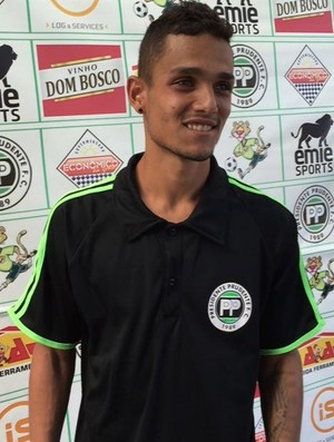 Yuri atacante do Presidente Prudente Futebol Clube (Foto: Ronaldo Nascimento / GloboEsporte.com)