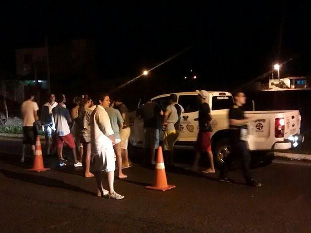 Blitz foi realizada na Avenida Roberto Freire (Foto: Divulgação/Polícia Militar do RN)
