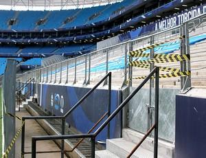 Arena do Grêmio área interditada avalanche  (Foto: Francis Targanski / Ag. Estado)