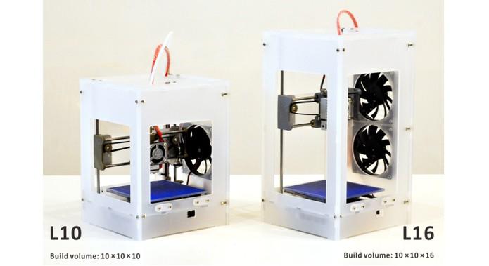 Impressora 3D está disponível em dois modelos, com a L10 e a L16 (Foto: Divulgação/TinyBoy)