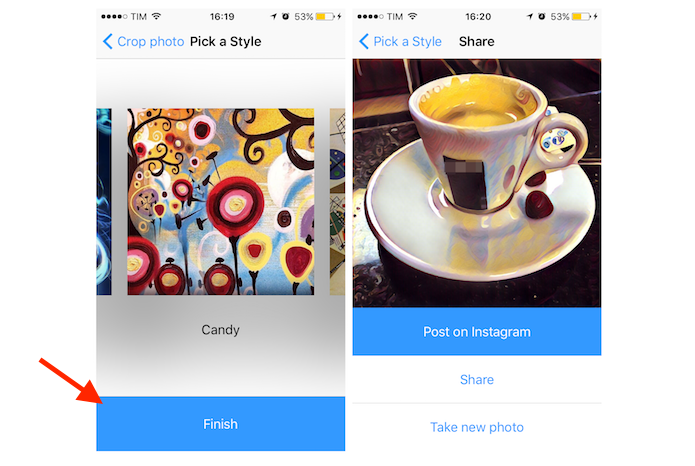 Adicionando uma textura em uma foto com o aplicativo Prisma para iPhone (Foto: Reprodução/Marvin Costa)