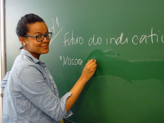 Luciana Pölönen dá aulas de português em Espoo, na Finlândia (Foto: Arquivo pessoal)