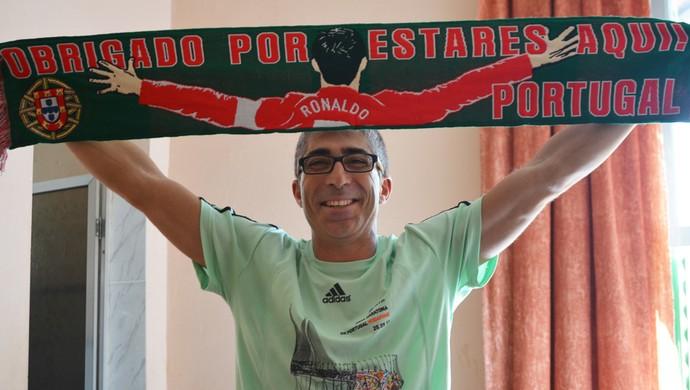 Jorge Franco torcedor português Campinas (Foto: Murilo Borges)