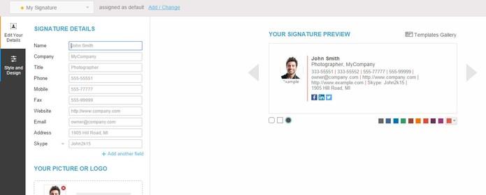 Wisestamp permite adicionar redes sociais em botões nas assinaturas de e-mails (Foto: Reprodução/Barbara Mannara)