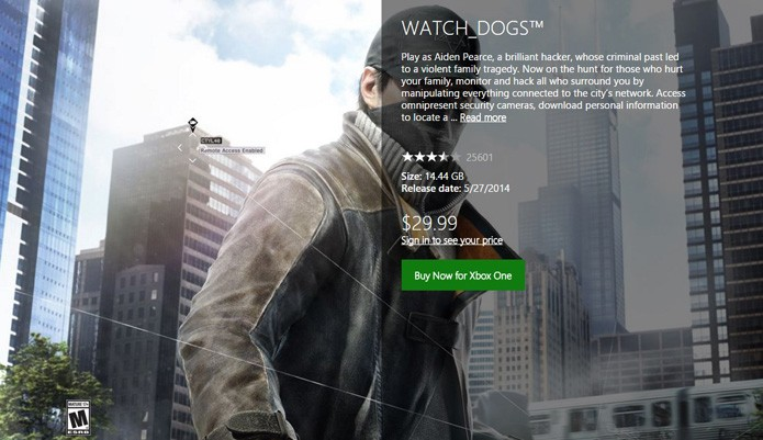 Página do game na Xbox Marketplace (Foto: Reprodução/André Mello)
