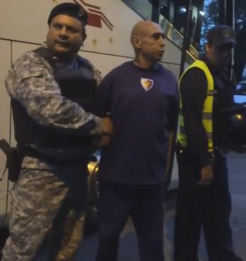 Rosario Martínez, técnico do Fenix, detido no uruguai (Foto: Reprodução / Twitter)