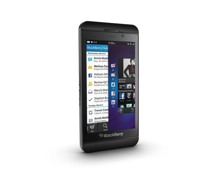 BlackBerry Z10 na cor preta (Foto: Divulgação)