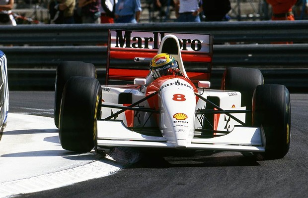 Ayrton Senna no GP de Mônaco de 1993 (Foto: Divulgação)