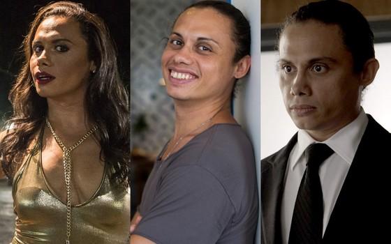 As múltiplas facetas do ator, como Elis, despido de qualquer personagem e como o motorista Nonato (Foto: Gshow)