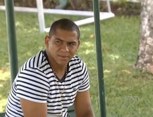 Walter, atacante do Goiás (Foto: Reprodução / TV Anhanguera)