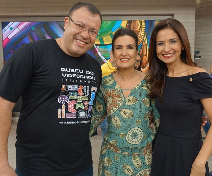 Fátima e convidados do programa  (Foto: Carolina Morgado/Gshow)