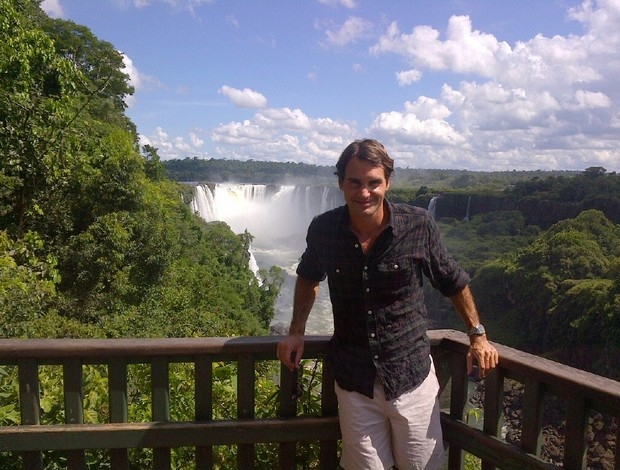 Federer nas Cataratas do Iguaçu tênis (Foto: Reprodução/Facebook)