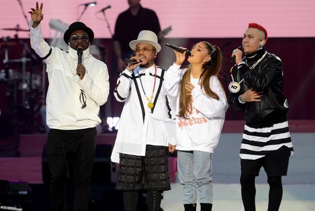 Ariana Grande e Black Eyede Peas (Foto: Getty Images)