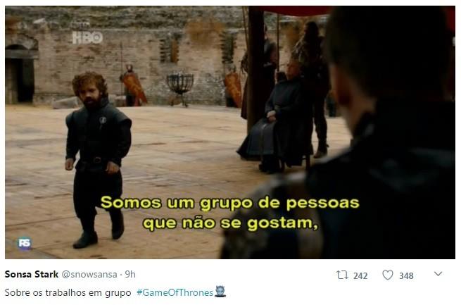 Internauta comenta o final da sétima temporada de 'Game of thrones' (Foto: Reprodução / Twitter)